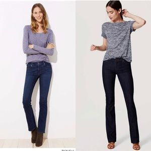 Bundle of LOFT modern boot cut jeans!